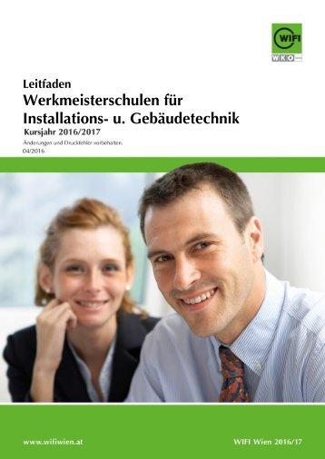 Leitfaden: Werkmeisterschulen für Installations- und Gebäudetechnik