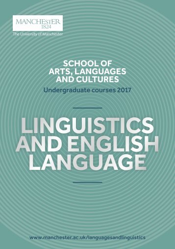 LINGUISTICS AND ENGLISH LANGUAGE