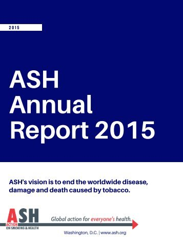 ASH Annual Report 2015