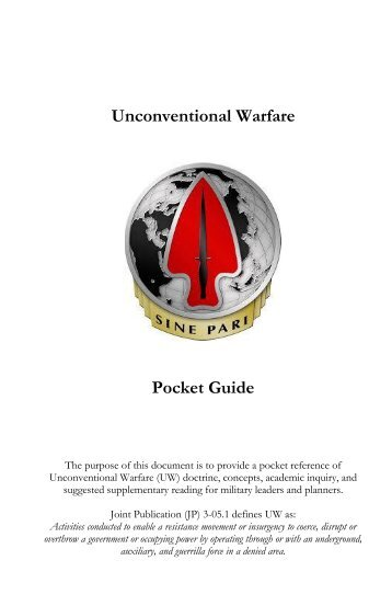 Unconventional Warfare Pocket Guide