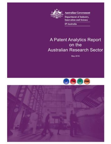 A Patent Analytics Report on the Australian Research Sector