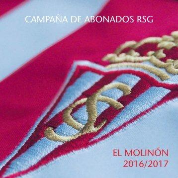 CAMPAÑA DE ABONADOS RSG EL MOLINÓN 2016/2017