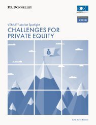 CHALLENGES FOR PRIVATE EQUITY