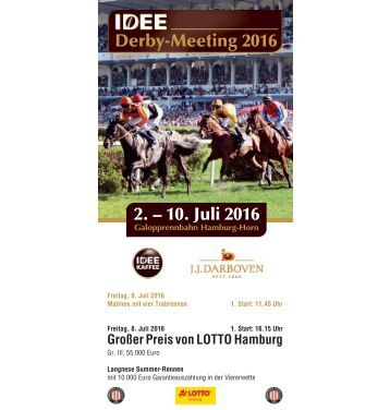 Derby-Meeting 2016 - Renntag 5 - 08.07.2016