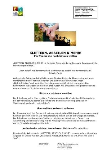 KLETTERN, ABSEILEN & MEHR!