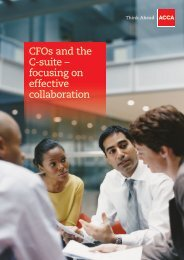 CFOs and the C-suite – focusing on effective collaboration