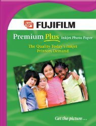 Premium Plus Inkjet Photo Paper Brochure - Fujifilm USA