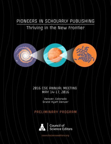 PIONEERS IN SCHOLARLY PUBLISHING
