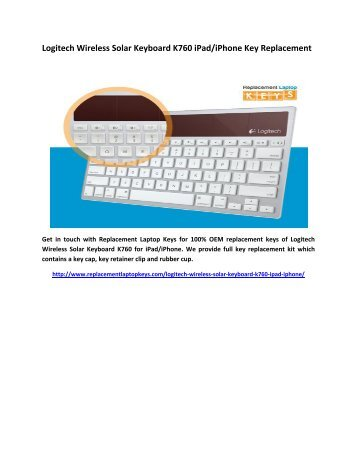 Logitech Wireless Solar Keyboard K760 iPad/iPhone Key Replacement
