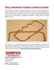 Best Automotive Engine Gaskets in India