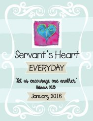 Servant's Heart Everyday 2016 Part 2