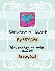 Servant's Heart Everyday 2016 Part 3