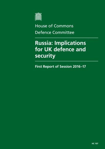 Russia Implications for UK defence and security
