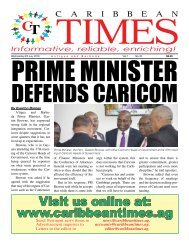 Caribbean Times 45th Issue - Wednesday 6th July 2016