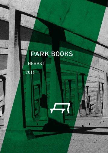 Park Books Vorschau Herbst 2016