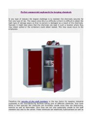 Perfect commercial cupboards for keeping chemicals