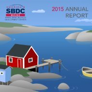 2015 Maine SBDC Annual Report