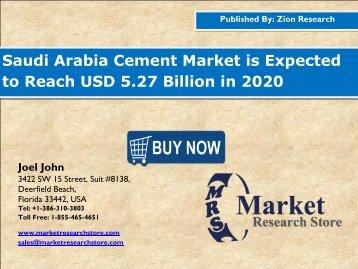 Cement Market in Saudi Arabia