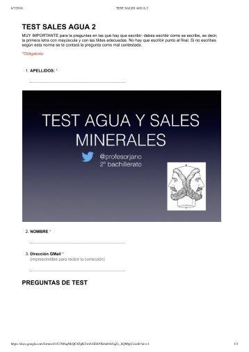 TEST SALES AGUA 2 - Formularios de Google