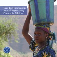Near East Foundation 2015 Annual Report