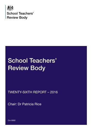 School Teachers' Review Body