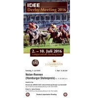 Derby-Meeting 2016 - Rennprogramm 09.07.2016 - Renntag 6