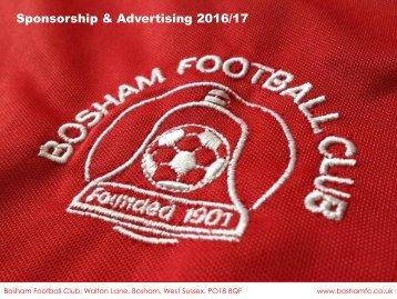 Sponsorship & Advertising 2016/17