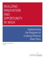 REALIZING INNOVATION AND OPPORTUNITY IN WIOA