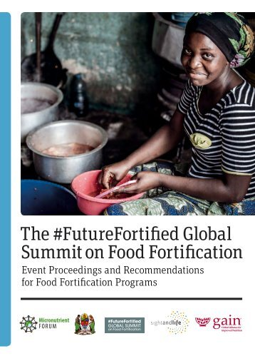 Summit on Food Fortification