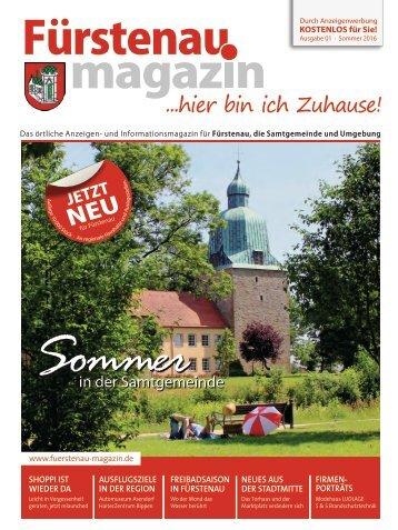 Fürstenau-Magazin Ausgabe Sommer 2016