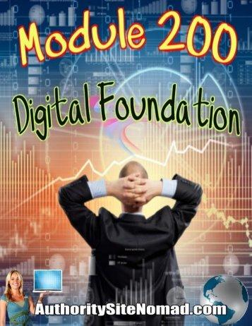 Module 200 Digital Foundation