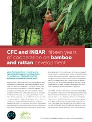 CFC and INBAR fifteen years of cooperation on bamboo and rattan development