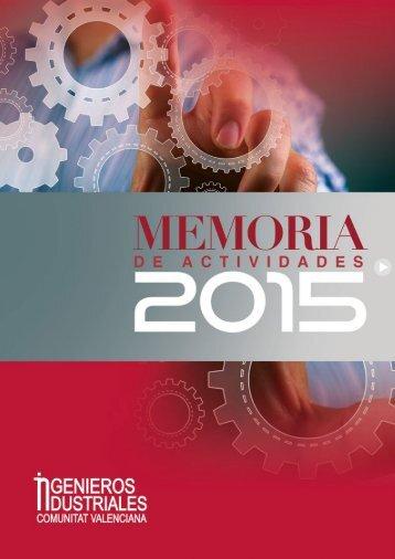 2015 MEMORIA Colegio Ingenieros
