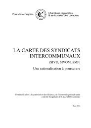 LA CARTE DES SYNDICATS INTERCOMMUNAUX