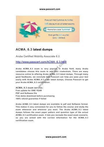 Aruba ACMA ACMA_6.3 dumps