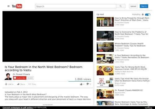 Is Your Bedroom in the North West Bedroom? Bedroom according ...