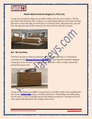 Modern Bedroom Furniture thoughts for a Fresh Look