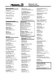 Wichtige Telefon-, Telefaxnummern und E-Mail-Adressen städtischer