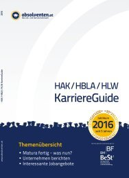 HAK/HBLA/HLW KarriereGuide 2016