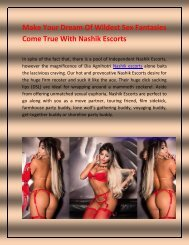 Independent Nashik Escorts And Services