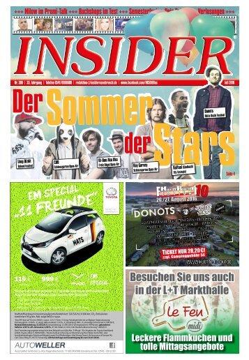 INSIDER Osnabrück // Juli 2016 // No. 396