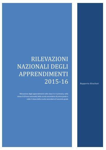 NAZIONALI DEGLI APPRENDIMENTI 2015‐16