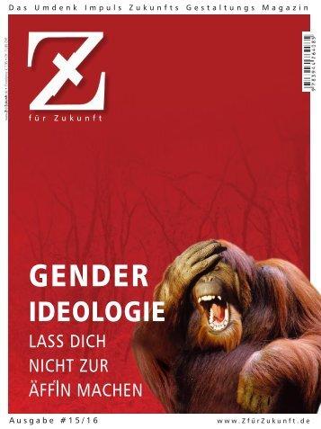 Z15/16 GENDER-IDEOLOGIE :: Lass Dich nicht zur Äff*In machen
