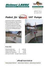 Podest für VakuTec VAT Pumpe 2015