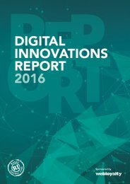 DIGITAL INNOVATIONS REPORT 2016