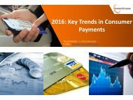 Key Trends in Consumer Payments 2016