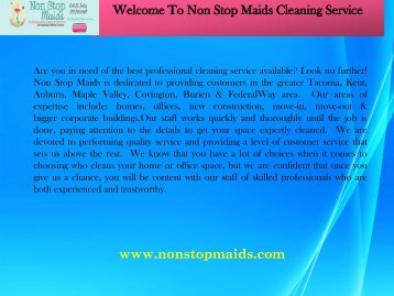 Cleaning Services Seattle WA| Non-Stop Maids