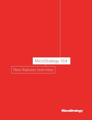 MicroStrategy 10.4 New features overview
