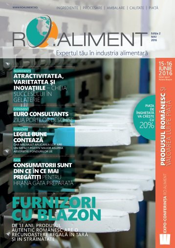 Revista RO>aliment editia 2 - Expertul tau in industria alimentara