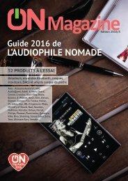 ON Magazine - Guide de l'audiophile nomade 2016